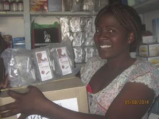 Mwamba's  Shopkeepers Ms Christine Phiri