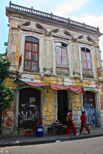 run down building in Cartagena