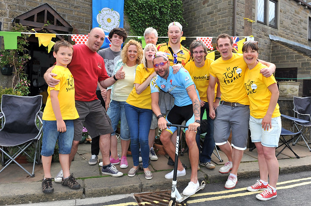 Tour de France through Haworth