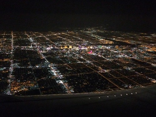 Parting shot, Las Vegas at night from plane