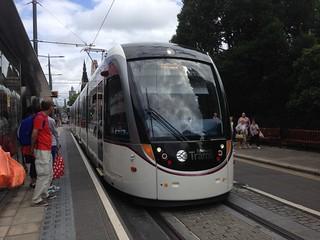 Edinburgh tram on Princes Street