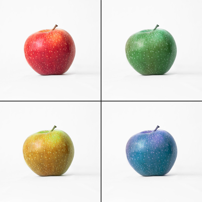 coloured apples