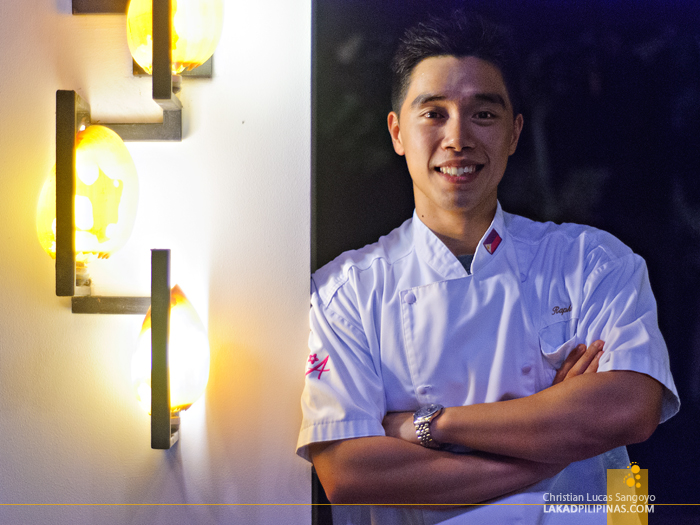 Chef Raphael Ongchion at Amorita Resort's Saffron Restaurant