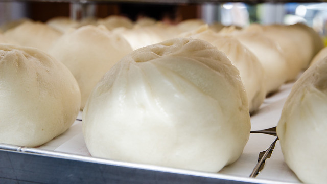 Freshly steamed pau