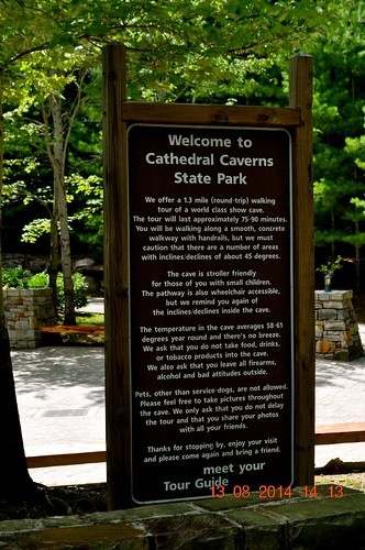 Welcome to Catherdral Caverns State Park