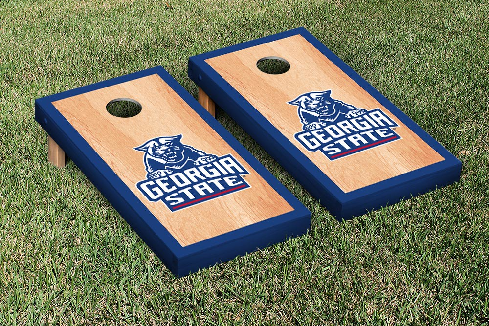 Georgia State Panthers Cornhole Game Set Hardcourt Version