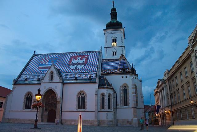 Zagreb - Eglise Saint Marc