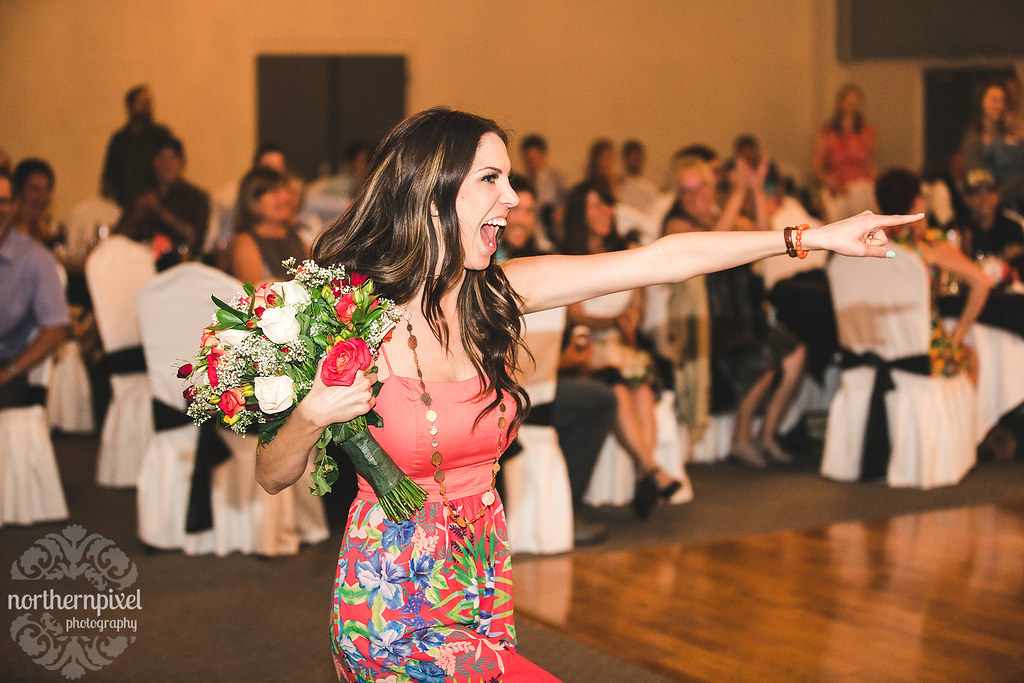 Bouquet Toss Celebration