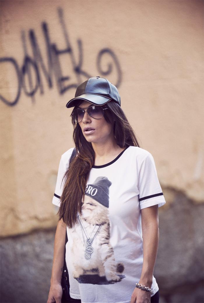 street style barbara crespo cat C&A tshirt tee fashion blogger outfit blog de moda