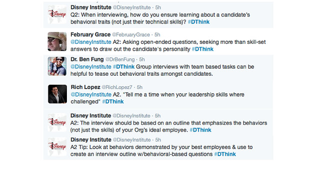 disneyinstitute-#DThink Twitter Chat Recap: Great Culture Begins With Great Recruiting