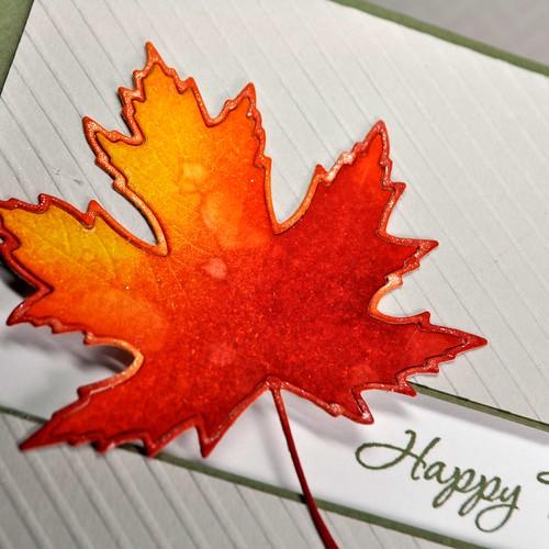 Happy Thanksgiving Leaf close