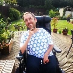 Modelling my new birthday t-shirt, and new style for this autumn, thanks to my lovely sister Claire