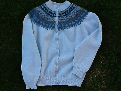 blue shimmer jakke 2