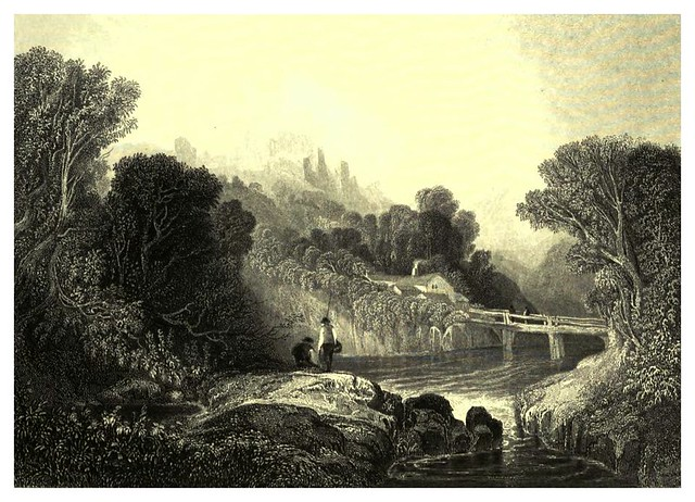 002-Vista del valle de LLangollen-The gallery of British engravings…