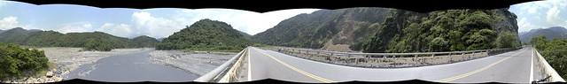 龍神橋的濁水溪河谷風景