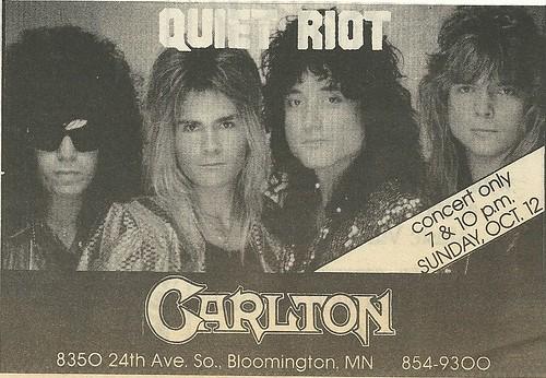 10/12/86 Quiet Riot @ The Carlton, Bloomington, MN