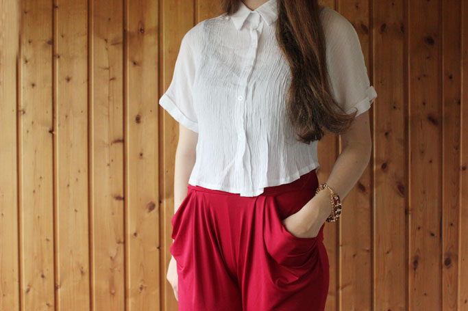 crop top shirt blouse kombinieren