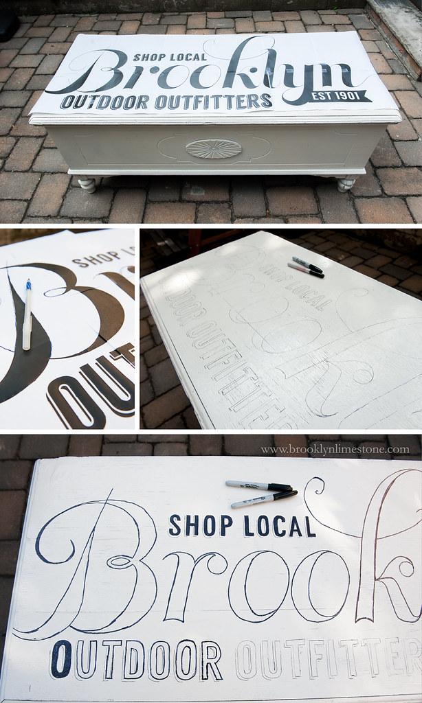 Transfer a Sign onto a Piece of Furniture | www.brooklynlimestone.com