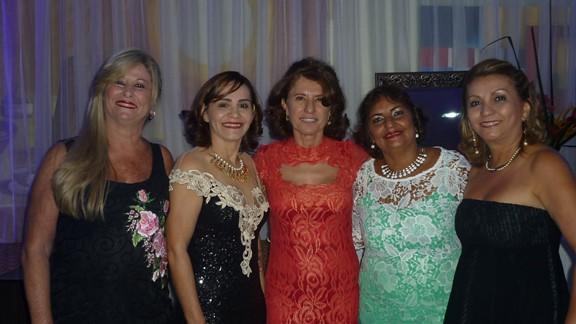 Helena Santana, Rosevete Oliveira, Darenice Dantas, Rosemary Fonseca e Francimary Leão