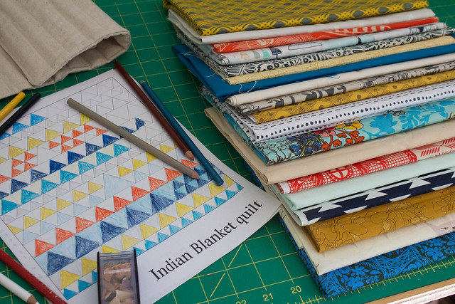 Angled Class: Indian Blanket Quilt Plan
