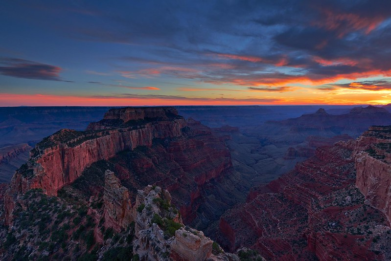 After Sunset Wotans Throne - Grand Canyon National Park