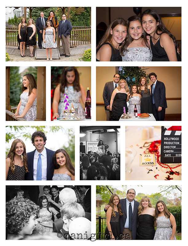 Candid photographs and family portraits from Rachel's Bat Mitzvah