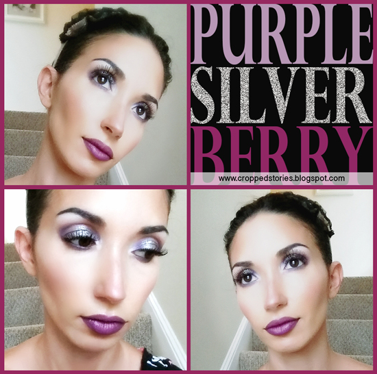 Purple silver and berry makeup for fall via cropped stories