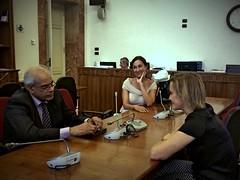 Deborah Bergamini incontra il Ministro libico della giustizia, Marguni