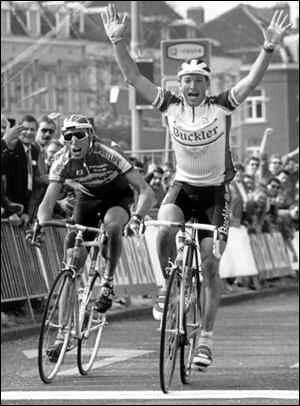 Amstel '91 - Maassen precede Fondriest