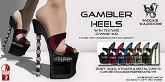 """Wicca\'s Wardrobe - """"Gambler Heels"""""""