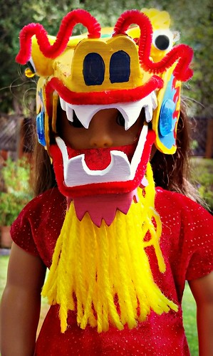 Chinese dragon American Girl doll mask (6)