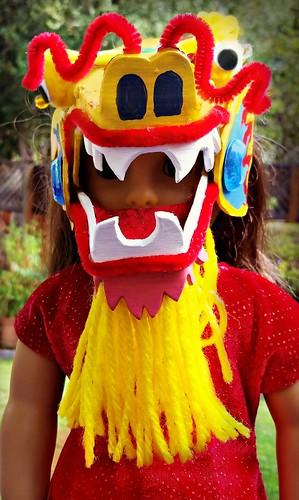 Chinese dragon American Girl doll mask (6)