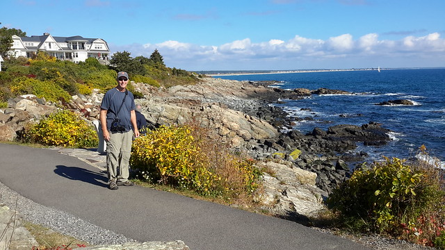 Fred along the ocean walk in Perkins Cove