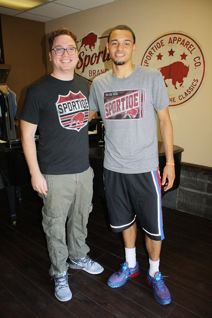 Jason Franklin + Tyler Ennis at Sportiqe HQ