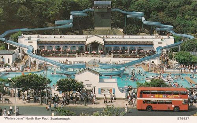 The blue waters of atlantis stories from scarborough - Swimming pools with slides in yorkshire ...