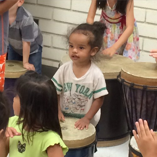Xavi's first drum circle