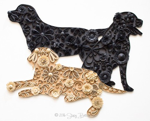Quilled Labrador Retriever Trio by Stacy Bettencourt
