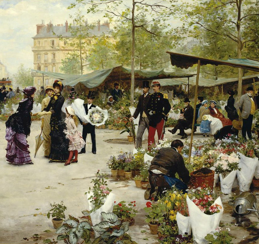 The Lower Market, Paris by Victor Gabriel Gilbert, 1881