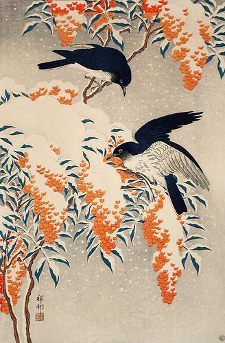 006-Papamoscas de la nieve-Ohara Koson-via Lacma