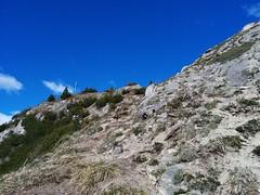 Gipfelkreuz Wolfskofel in Sicht