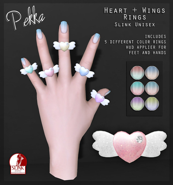 pekka heart wings nails rings