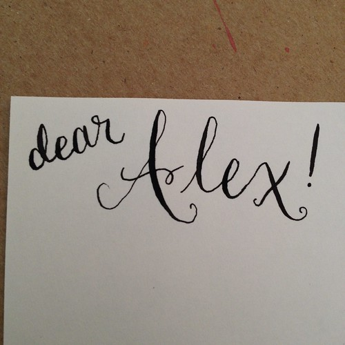 Dear Alex...