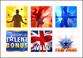 free Britain's Got Talent slot game symbols