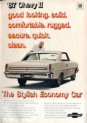 1967 Chevrolet Chevy II Advertisement Readers Digest November 1966