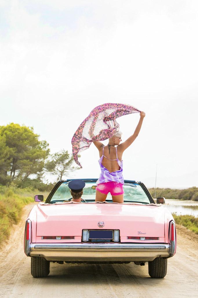 Ibiza style watch: Pink Cadillac