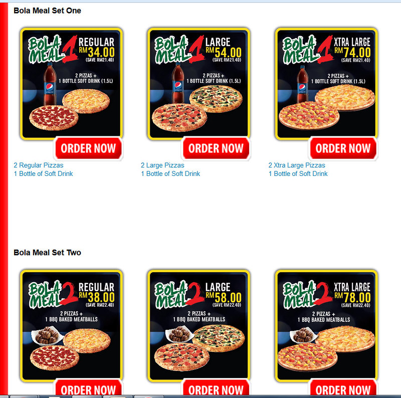Dominoes Bola Meal sets - no toy