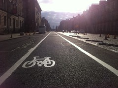 Bike lanes Edinburgh