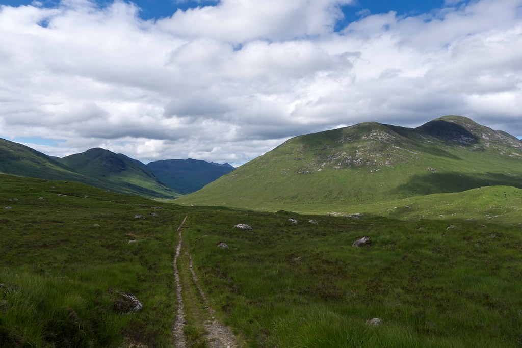 The track to Glen Kinglass