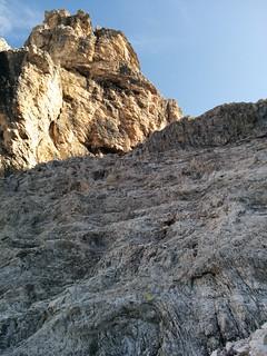 Aufstieg über die Felswand