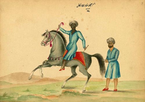 003- Tranquilizando a un caballo- Walters manuscrito W.661- fol 95 a.-The Art Walters Museum